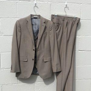 3 piece suit: jacket vest pants JF Slim fit 36R